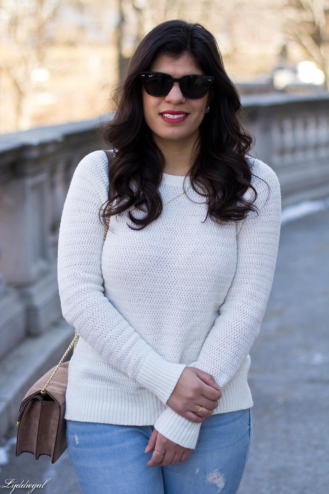 white sweater, distressed denim, laceup flats-6.jpg
