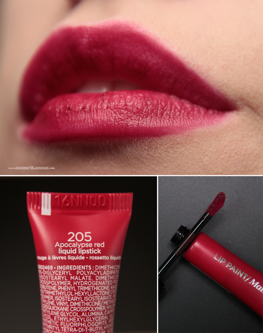 Loreal Lip Paint Apocalypse red