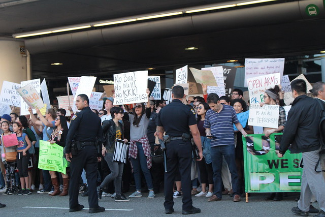 LAX Protests Against Immigration Order