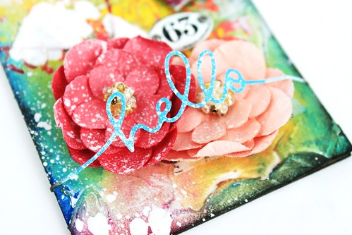 Meihsia Liu Simply Paper Crafts Mixed Media Tag Simon Says Stamp Monday Challenge Heart Love 4