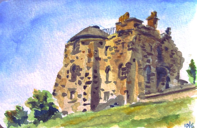 Old Observatory House, watercolour, 10/06/2015