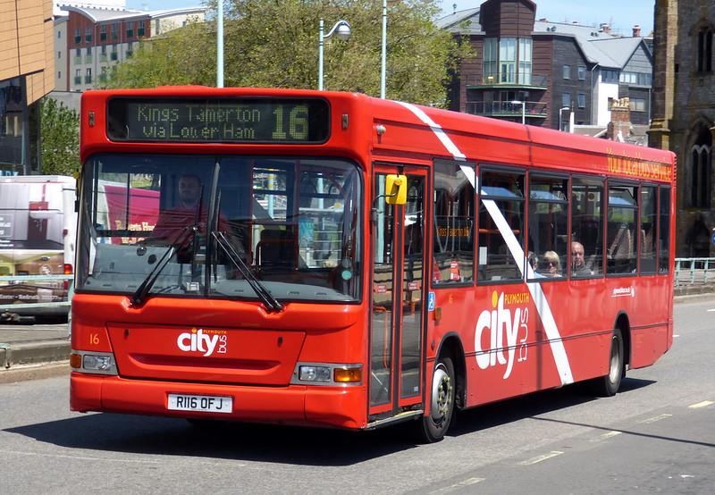 Plymouth Citybus 016 R116OFJ
