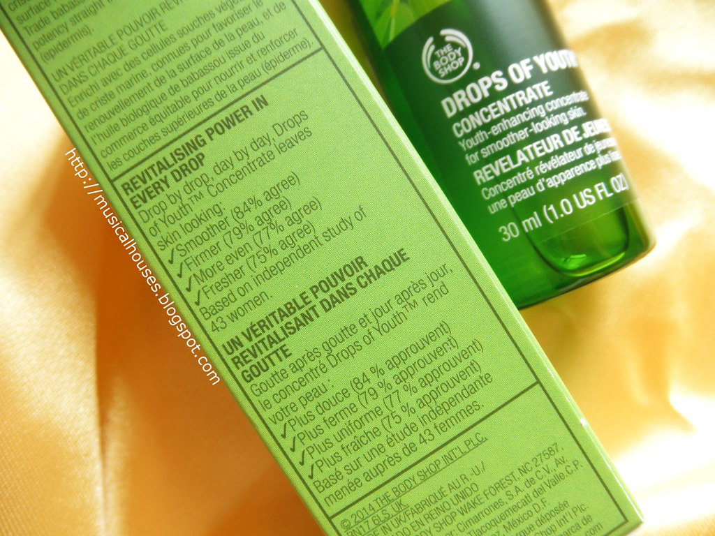 The Body Shop Drops Of Youth Concentrate Description Flickr