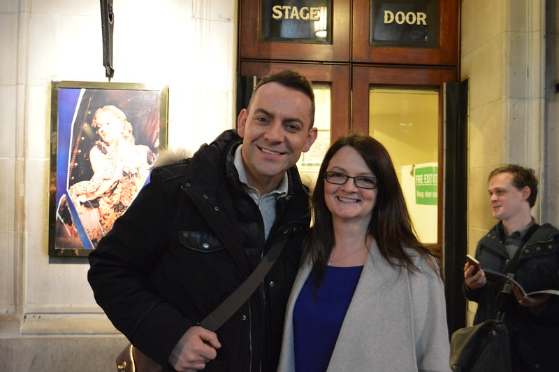 This is a photo of Ben Forster (Phantom) at the stage door
