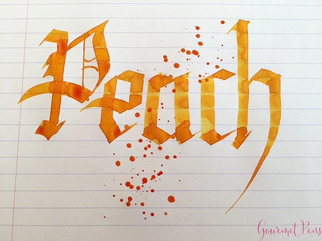 Ink Shot Review @RobertOsterInk Peach @SakuraFPGallery 8