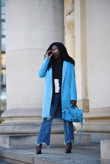 Blue coat Proenza Schouler ps1 Lois opoku | by Lois Opoku
