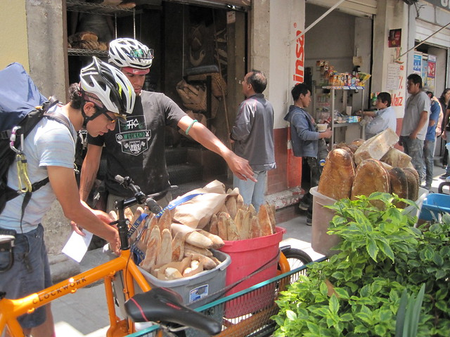 Bakery bicycle delivery