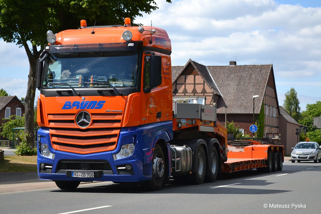 Mercedes Benz Actros Mp 4 6x4 Bruns Schwertransport D