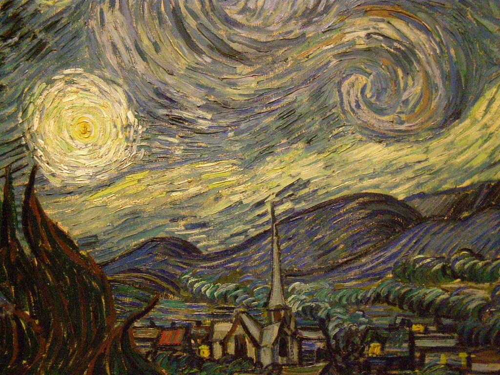 Moma Vincent Van Gogh The Starry Night 1889 - HD1024×768
