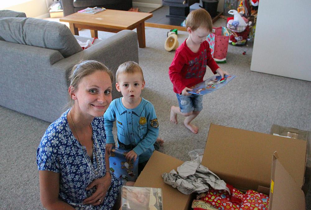 Franzi mit den Zwillingen Emil und Anton
