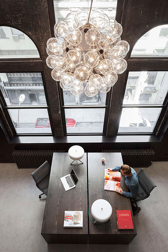 Office space design of the former firehouse in New York Sundeno_06