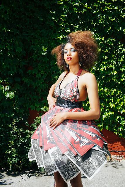 Photo- Trask Bedortha  Dress - Ariana Schwartz - Hair - Gwynne McLaughlin - Studio Mantra Make up art - Marisa Shute - 02