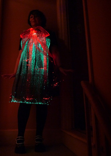 ThinkerBelle fibre optic EEG dress