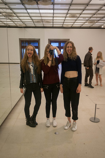 "Mirror selfie at the ""Decision"" exhibition, London"