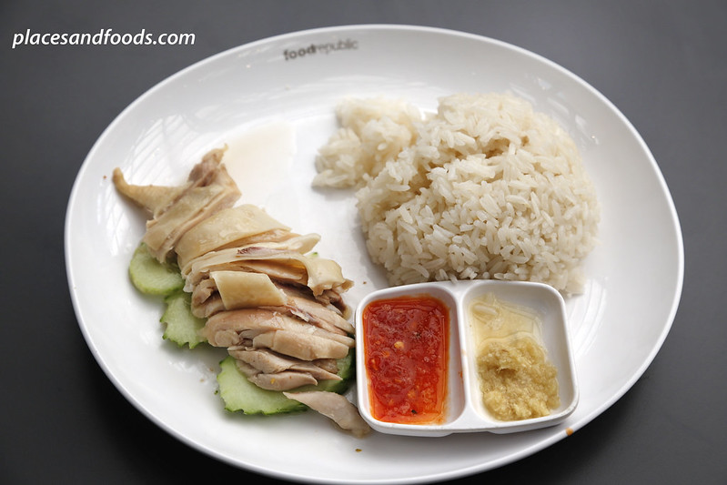 food republic siam center bangkok Sergeant Hainanese Chicken Rice