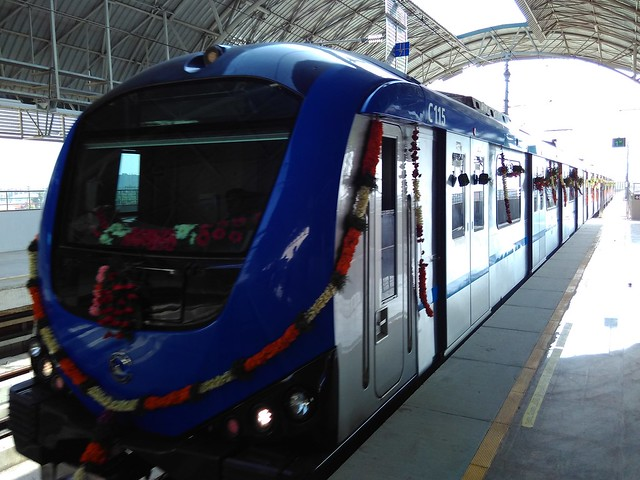 Chennai-Metro-Train-Arriving-at-Station