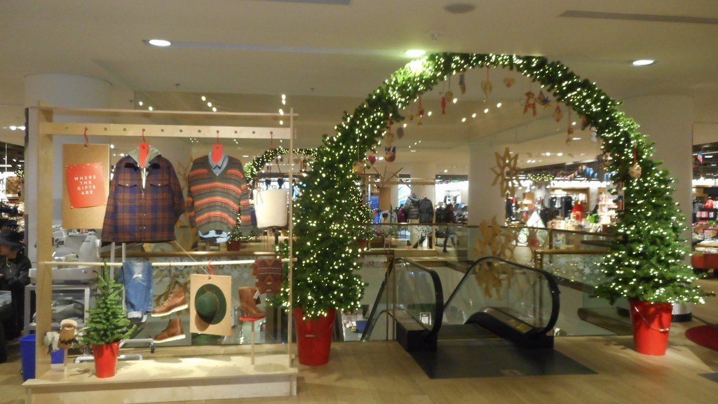 holiday decorations on level 4 at downtown seattle nordstrom store by patricksmercy - Nordstrom Christmas Decorations