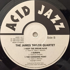 THE JAMES TAYLOR QUARTET:EXTENDED PLAY(LABEL SIDE-B)