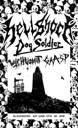 6/13/15 Hellshock/DogSoldier/Witchvomit/Gaasp
