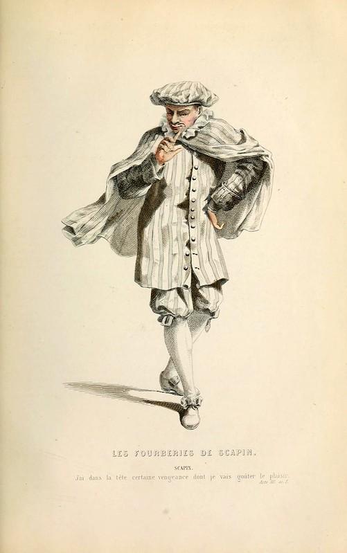 017- los engaños de scapin -Oeuvres completes ornee de portraits en pied colories…1871- Moliere