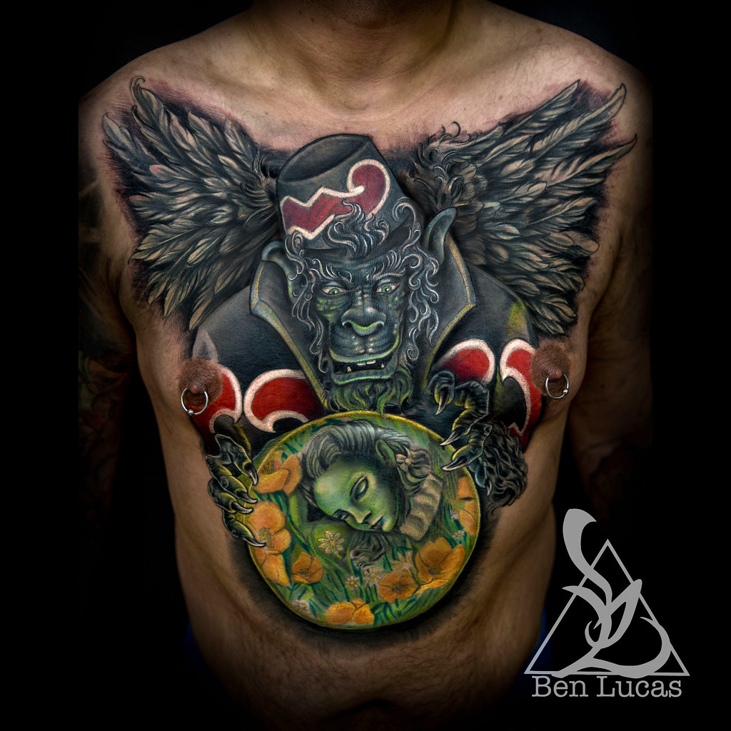Ismaels-Flying-Monkey-Chest-Cover-Up-Tattoo-by-Ben-Lucas-a