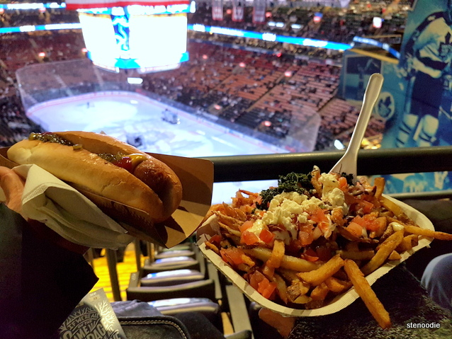Air Canada Centre hockey game with food