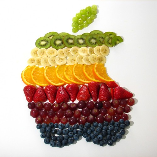 Retro Apple Logo fruit salad | by flickrich