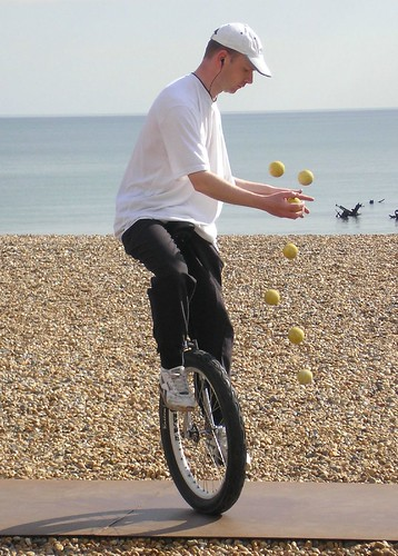Tom James the unicycling juggler. . . | by Elsie esq.