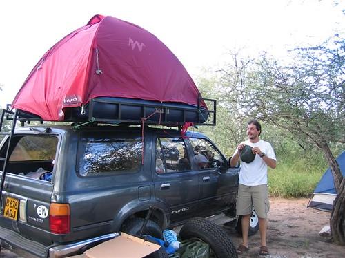 ... 20060404-09 Fabio with homemade roof tent at Thakadu C& (Ghanzi Botswana) & 20060404-09 Fabio with homemade roof tent at Thakadu Camp u2026 | Flickr
