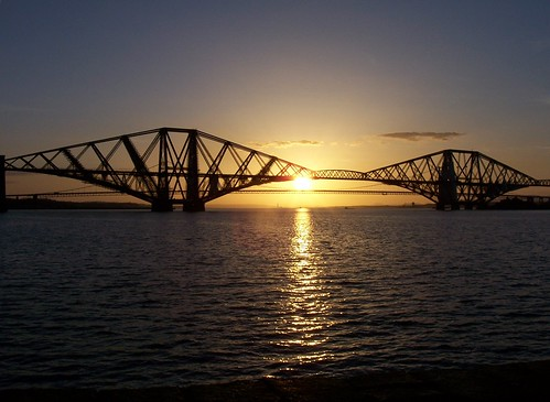 Sunset over Forth Bridges | by Grumbleduke