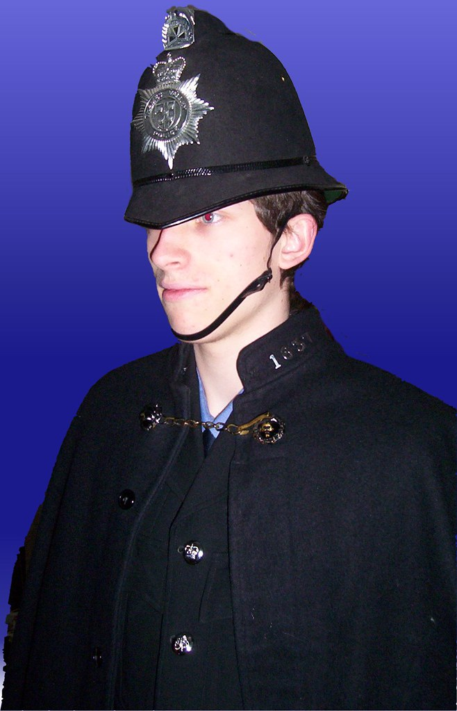 Tom Wearing My Old Police Uniform For A Fancy Dress Party