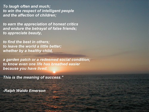 ralph waldo emerson essay on success