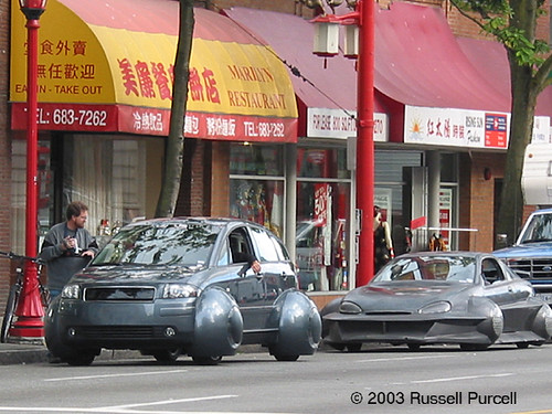 I Robot These Cars Were Background Traffic In The Film