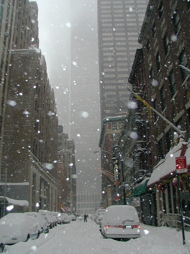 Blizzard Of 2000 Nyc World Trade Center In The Snow