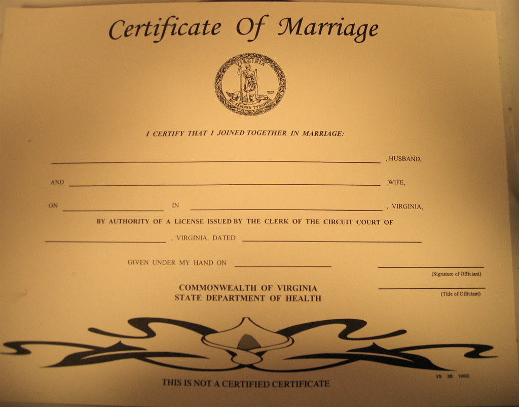 Keepsake Marriage Certificate Its Ugly As Sin Isnt It Flickr