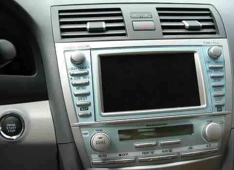 toyota camry 2007 navigation system   notice you start the
