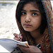 Schoolgirl - after the earthquake in Pakistan