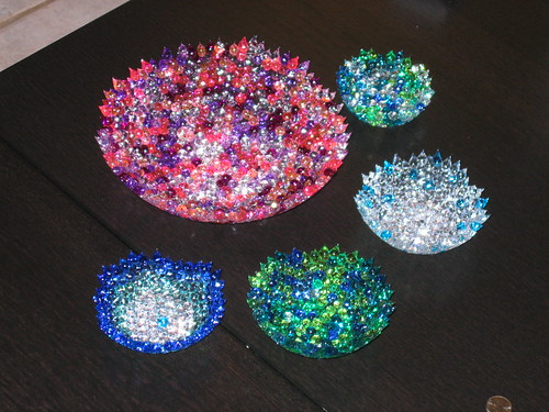 Large Melted Bead Bowl And 4 Small Melted Bead Bowls Flickr
