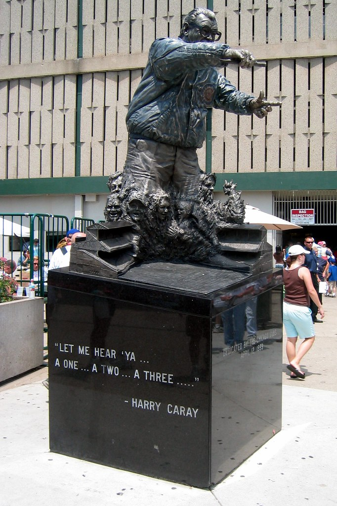 Chicago Wrigley Field Harry Caray Statue This Statue