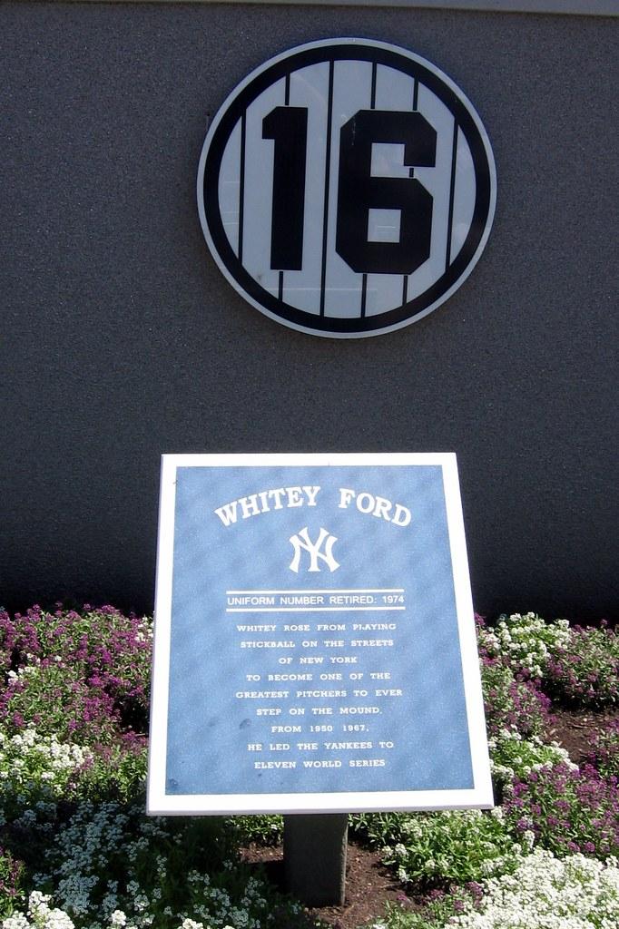 Yankee Stadium Monument Park Retired Numbers Whitey F
