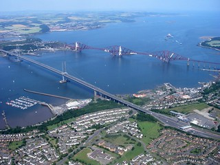 Forth bridges from the air | by Spakman