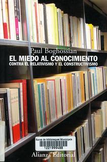 Paul Boghossian, El miedo al conocimiento