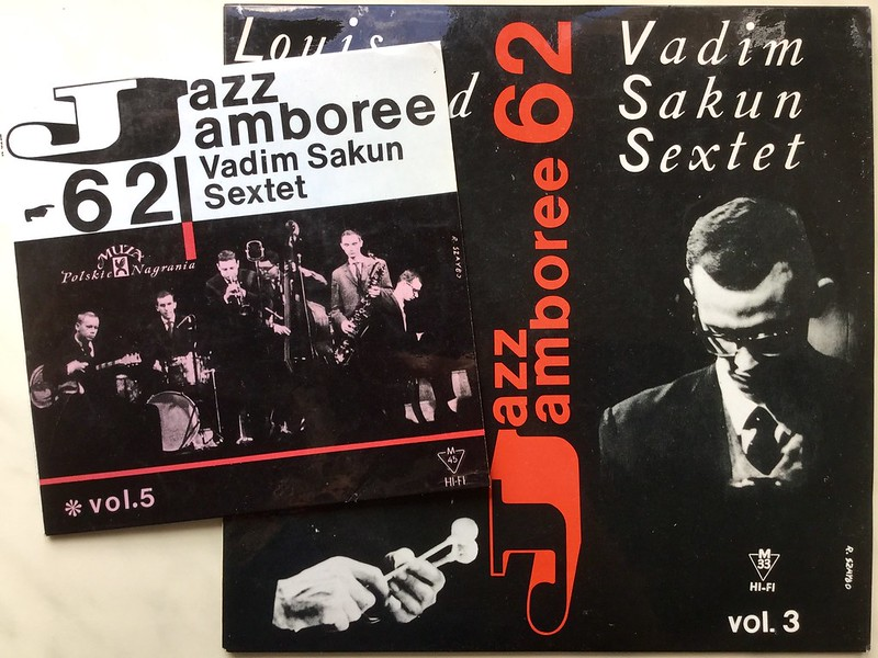 "Vadim Sakun Sextet - Vinyl of Soviet Jazz in Polish Jazz Jamboree 1962 - 7"" and 10"" covers"