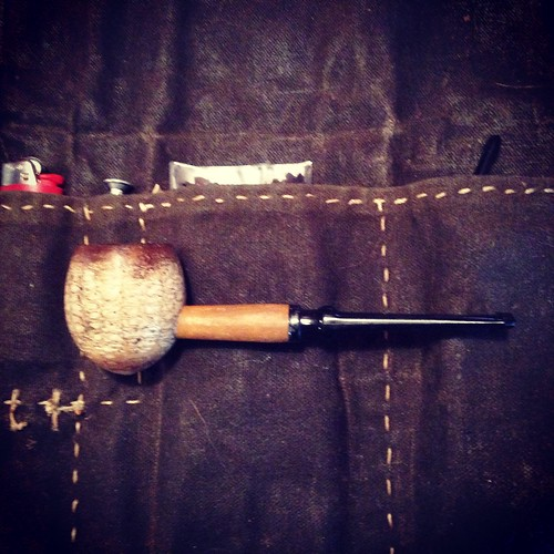 Aristocob Rusticob Great Dane Egg Straight. The newest of my slightly hillbilly Missouri Meerschaum corncob pipe collection.