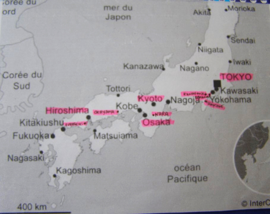 __Carte voyage Japon