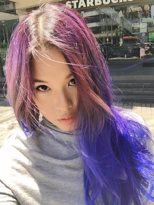 Violet blue hair