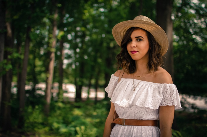 aviza style. a viza style. andrea viza. fashion blogger. dc blogger. off the shoulder white dress. abercrombie dress. floppy hat. white dress. summer style. 19