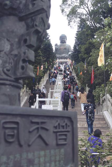 lavlilacs Hong Kong Lantau Island Ngong Ping Big Tian Tian Buddha stairs