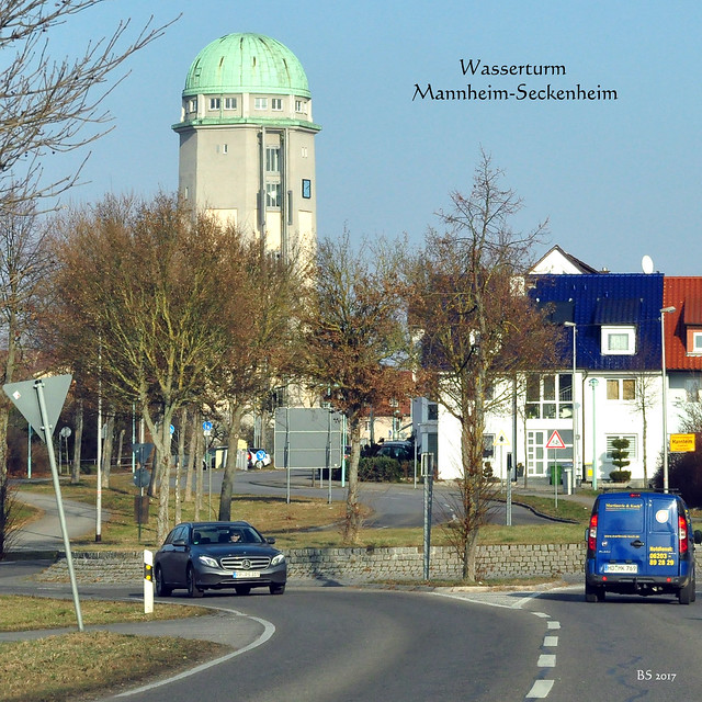 Wasserturm Mannheim-Seckenheim ... Foto: Brigitte Stolle, 26. Januar 2017