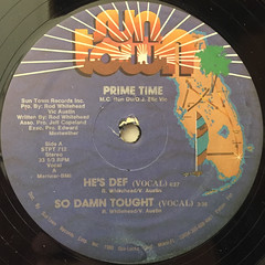 PRIME TIME:HE'S DEF(LABEL SIDE-A)